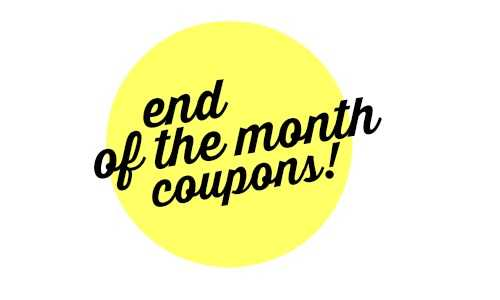 end of the month coupons expiring soon