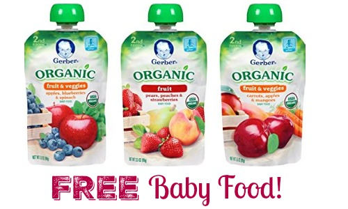 free baby gerber organic pouches