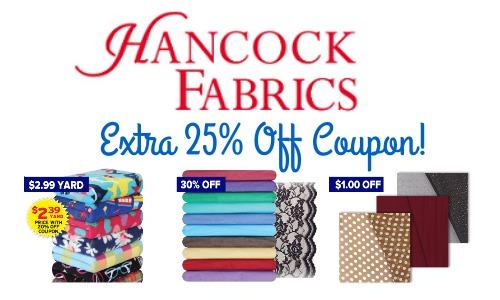 hancock fabrics sale