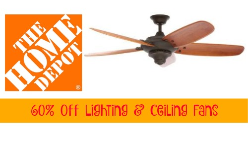 Home depot deal 60 off lighting ceiling fans southern savers home depot deal aloadofball Choice Image