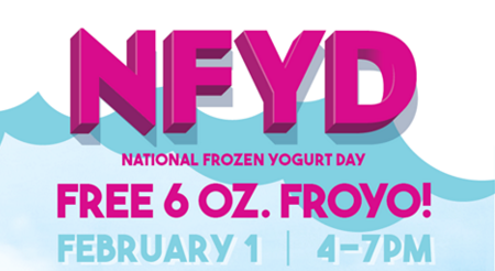 Free Yogurt at Menchie's 2/1