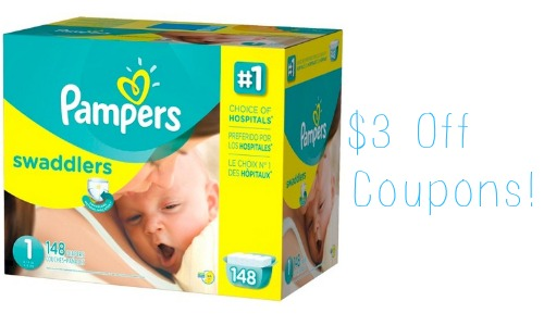 3 Off Pampers Coupons 26 99 Giant Packs Southern Savers