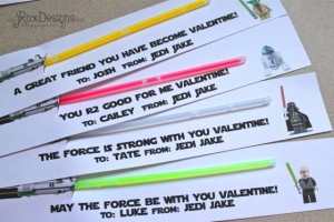 Eloquent image in lightsaber valentine printable