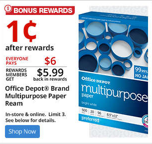 office depot multipurpose paper penny paper