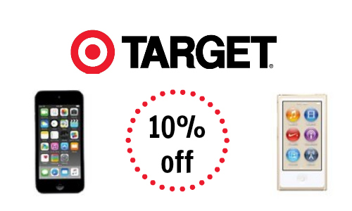10% off iPods at Target