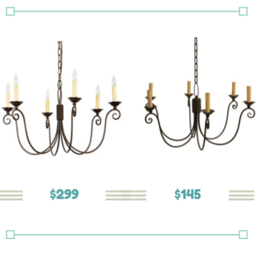I Found This Simple Chandelier For More Than Half The Price At Overstock Ballard Designs Has Some Great Stuff House But Sometimes Cost Is A