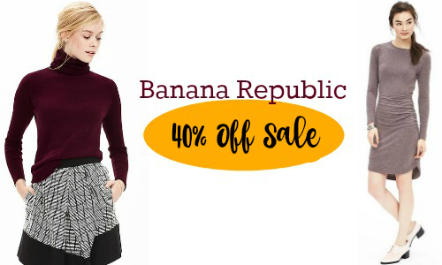 Banana Republic |  Extra 40% Off Sale