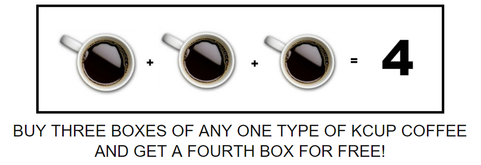 Cross Country Cafe: Buy 3 Boxes of K-Cups, Get 1 Free
