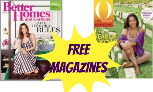 Free magazines better homes gardens oprah for Free home magazines