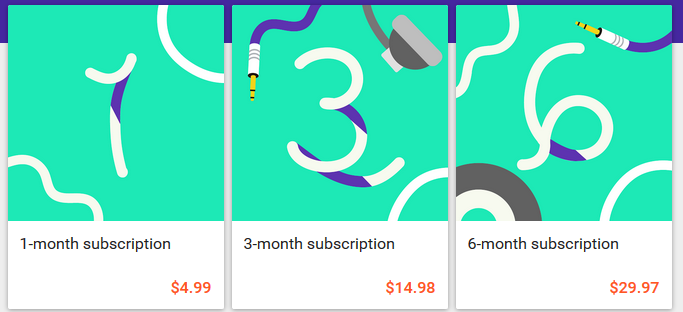 google play subscription