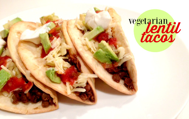 These vegetarian lentil tacos are so hearty and delicious, you really won't be able to tell that they are meat-free.