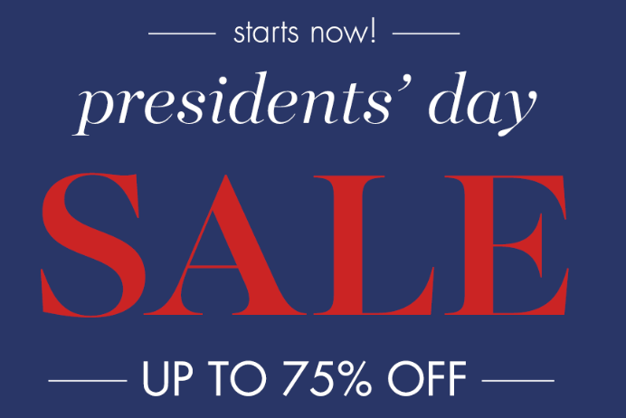 Pottery Barn Kids Presidents Day Sale