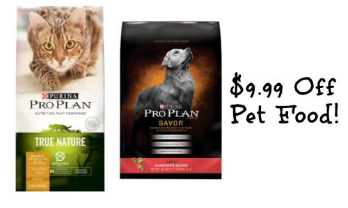 Coupons pro plan dog food
