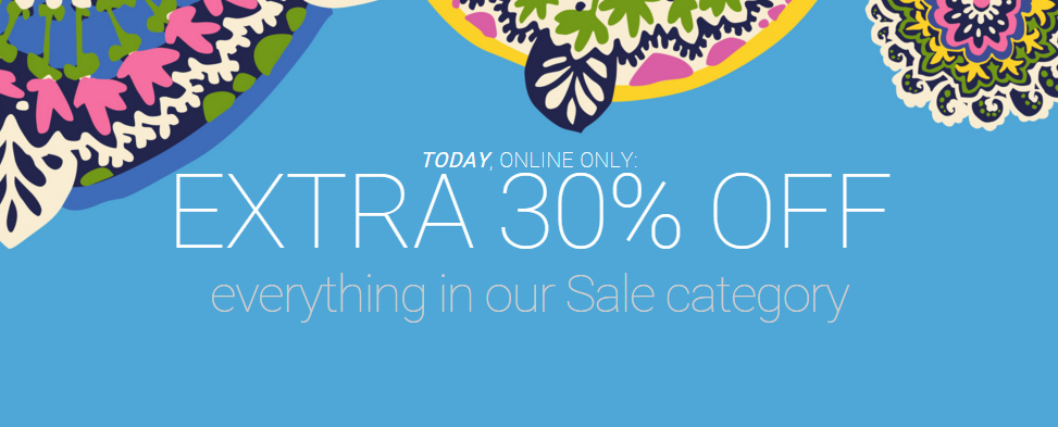 Vera Bradley Extra 30% Off Sale