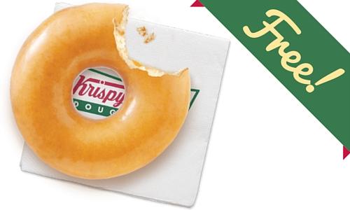 Free Donut at Krispy Kreme
