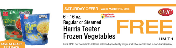 harris teeter free vegetables