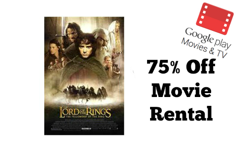 Google Play Movies: 75% Off Movie Rental