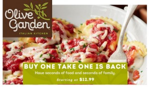 Top Deals This Week Moneymakers Bogo Olive Garden More Southern Savers