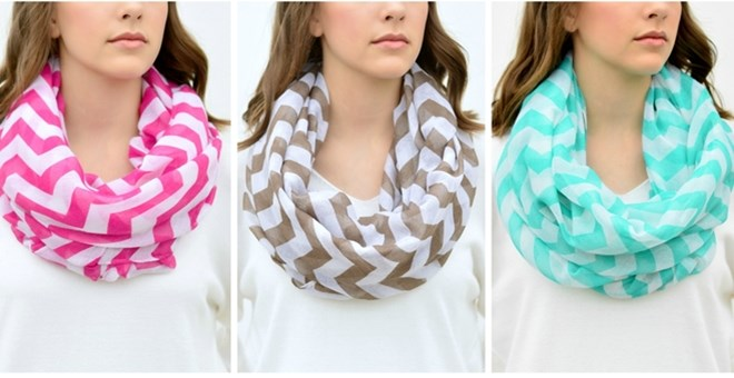 Jane.com Chevron Scarves, $3.99