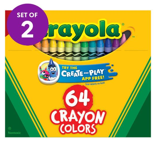 set of two crayon packs