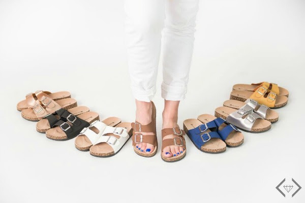 Cents of Style: Cork Sandals & Tee, $29.99