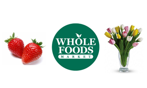 Whole Foods: Strawberry and Tulip Sale