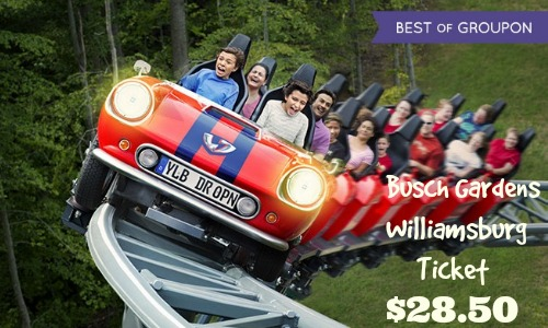 Groupon Deal Busch Gardens Williamsburg Ticket Southern Savers