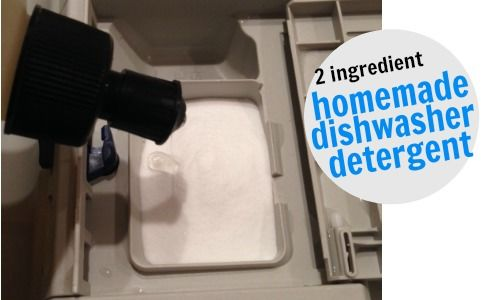 2 ingredient homemade dishwasher detergent