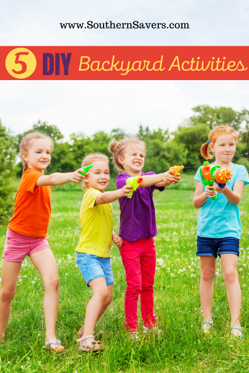 If you want to get your kids outside more this summer, check out one of these 5 DIY backyard activities for some family fun!