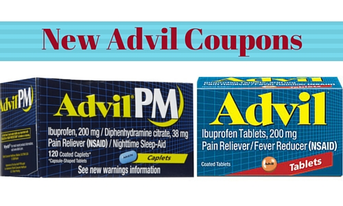3 New Advil Coupons Get 100 Ct Bottle For 4 99