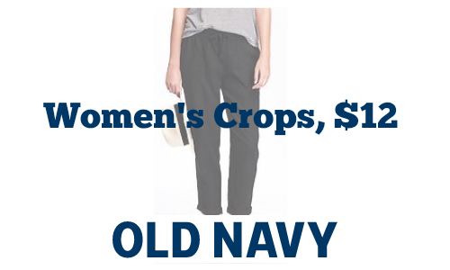 Old Navy: Women's Linen Crops, $12