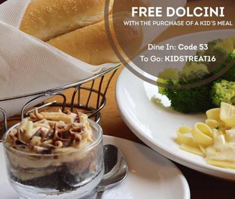 Olive Garden: Free Dolcini Dessert