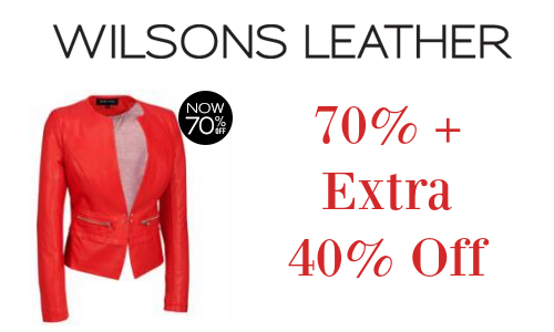 Wilsons Leather: 70% + 40% Off Sale