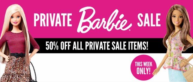 barbie private sale