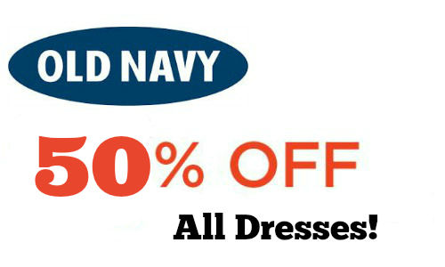 Old Navy: All Dresses 50% Off