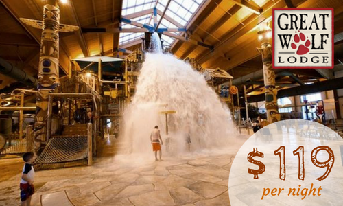 great wolf lodge  starting at  119 per night    southern