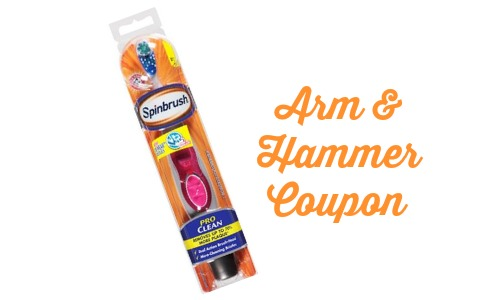 spinbrush Arm & Hammer coupon