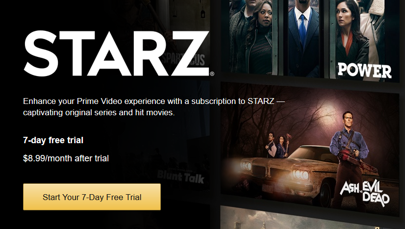 starz showtime subscription