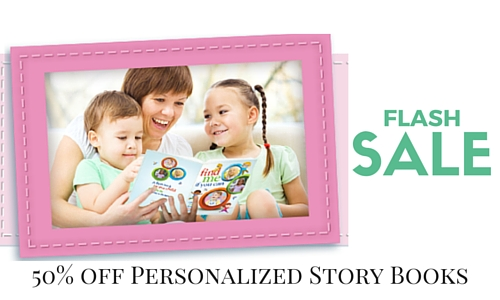 50 off Personalized Story Books