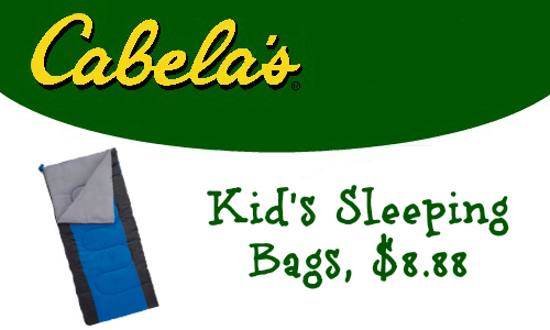 Cabela's: Kids Sleeping Bags, $8.88