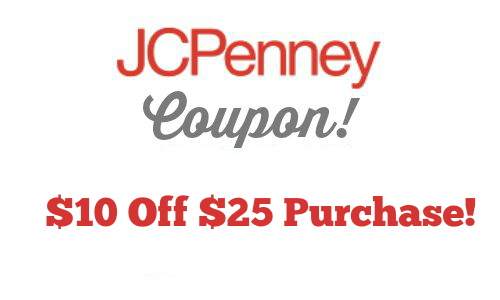 JCPenney: $10 Off $25 Purchase