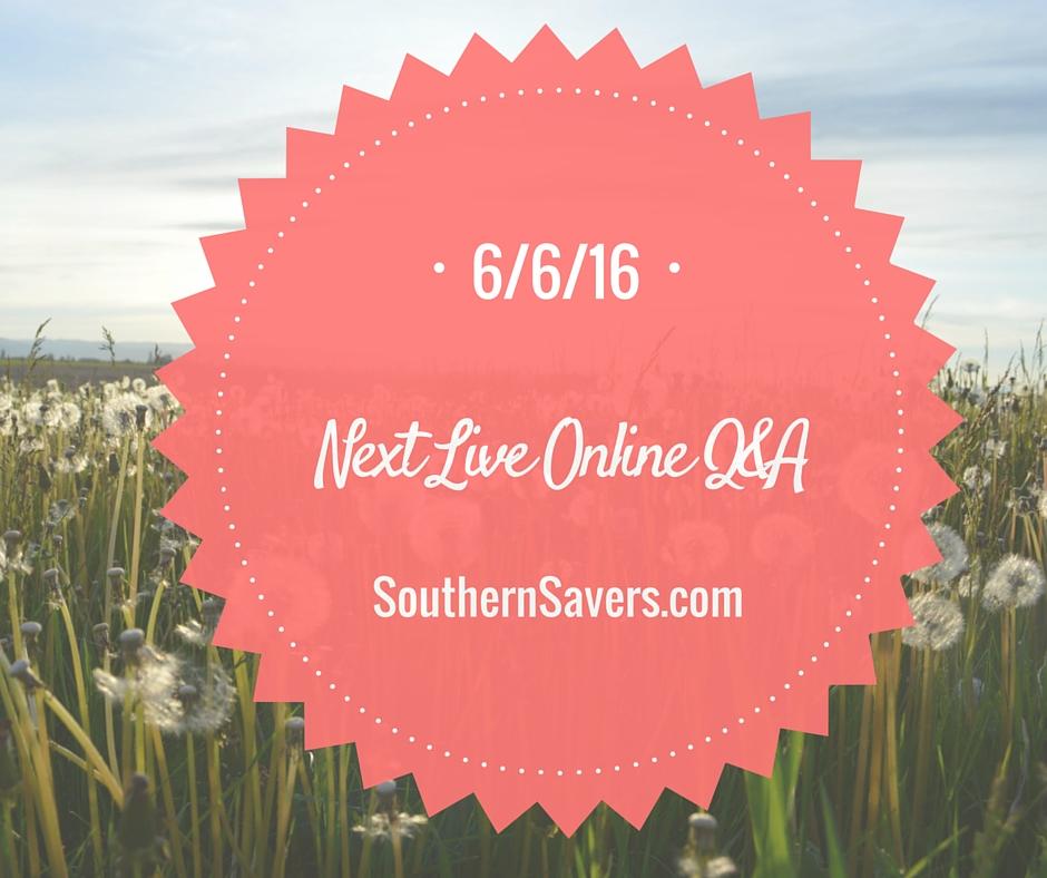 Next Live Online Q&A