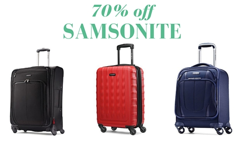 Here you can find the latest Samsonite voucher codes