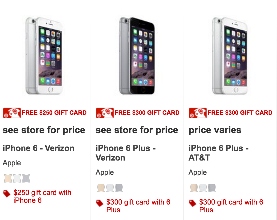 target iphone deals 250 target gift card with new iphone 6 southern savers 13082