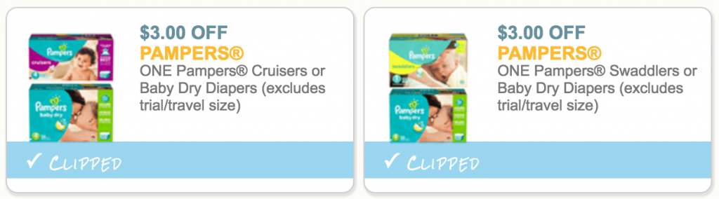 $3 off pampers diapers coupons