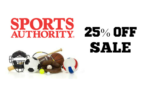Sports Authority: 25% Off Sale