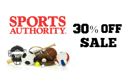 Sports Authority: 30% Off Sale
