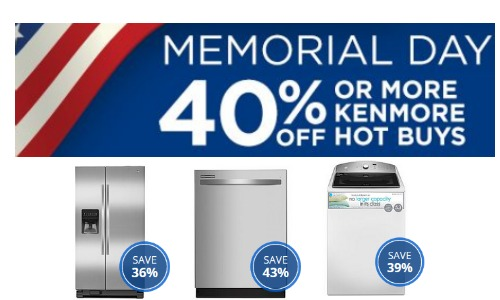 kenmore appliance sale