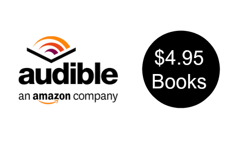 Audible: $4.95 Books