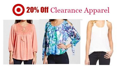 clearance apparel target cartwheel